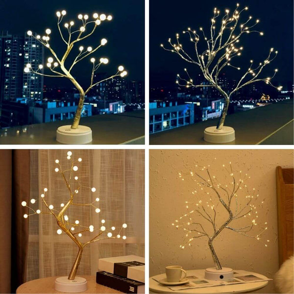 Premium Tabletop Tree Lamp  | Pearl gold | Spirit silver |  warm white | www.myesoko.com