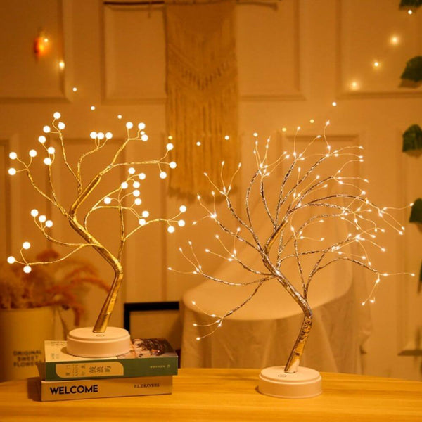 Premium Tabletop Tree Lamp | Pearl gold | Spirit silver | 108 warm white | www.myesoko.com