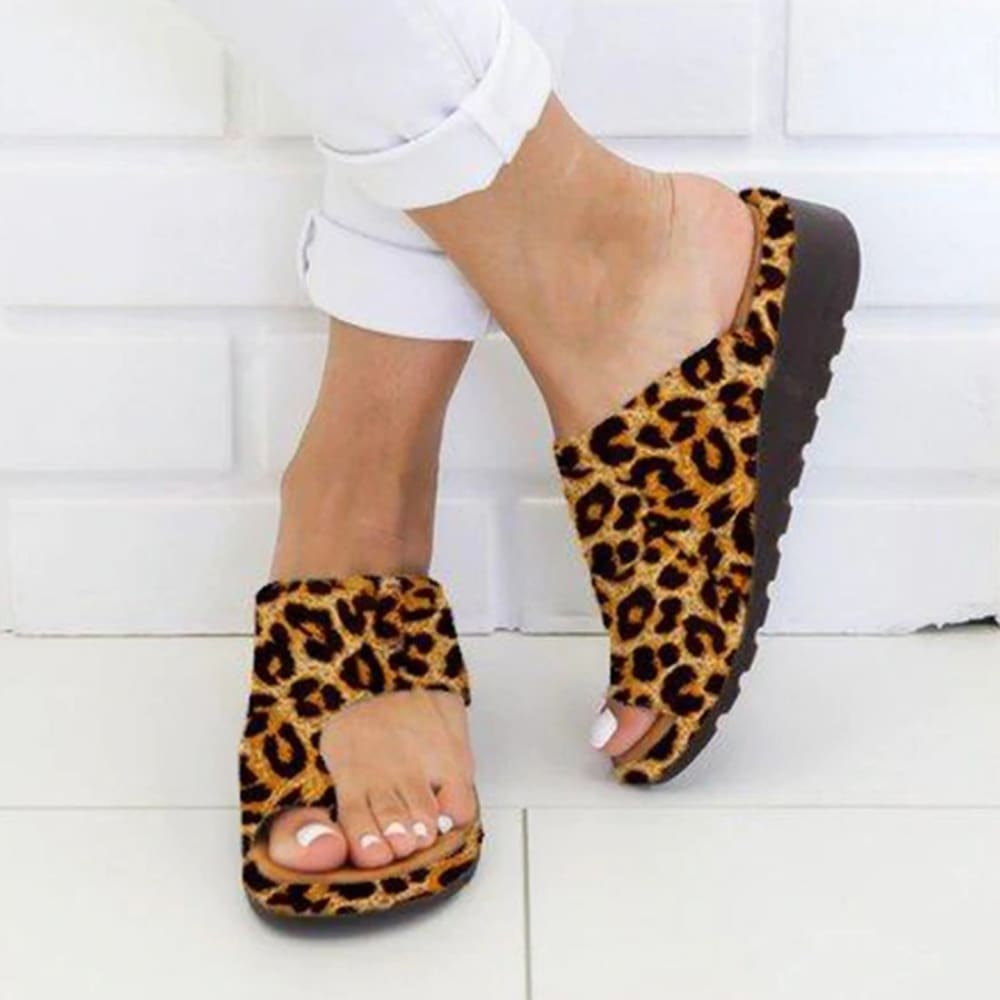 Orthopedic Bunion Corrector Sandals - Leopard / 34 - Sandals