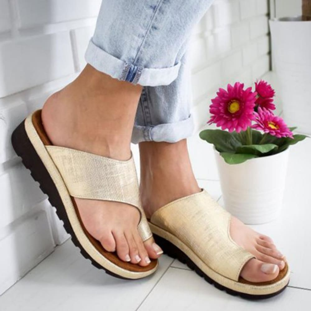 Orthopedic Bunion Corrector Sandals - Gold / 34 - Sandals