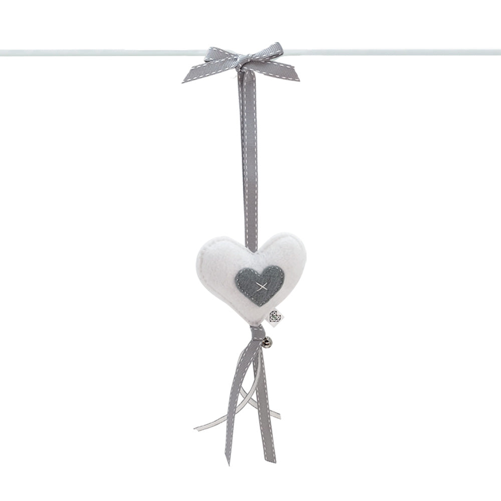 Heartfelt Dingle Dangle - Heart (White)
