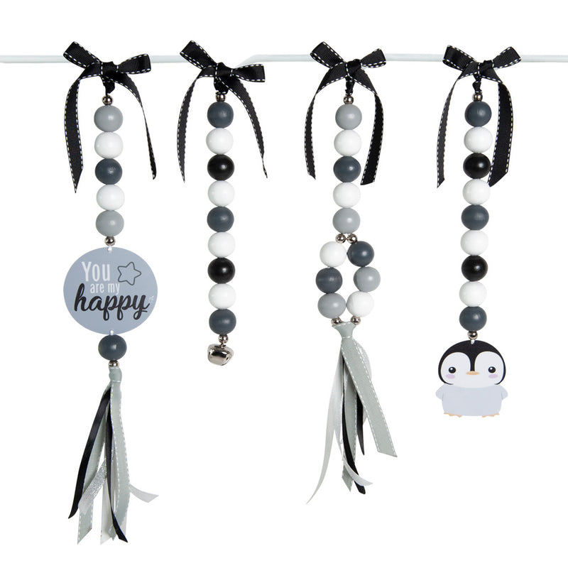 Ruby Melon Natural Dingle Dangle Set Penguin
