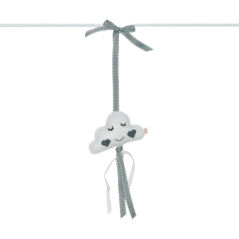 Heartfelt Dingle Dangle - Cloud (White & Grey)