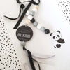 Ruby Melon Natural Dingle Dangle Set Panda