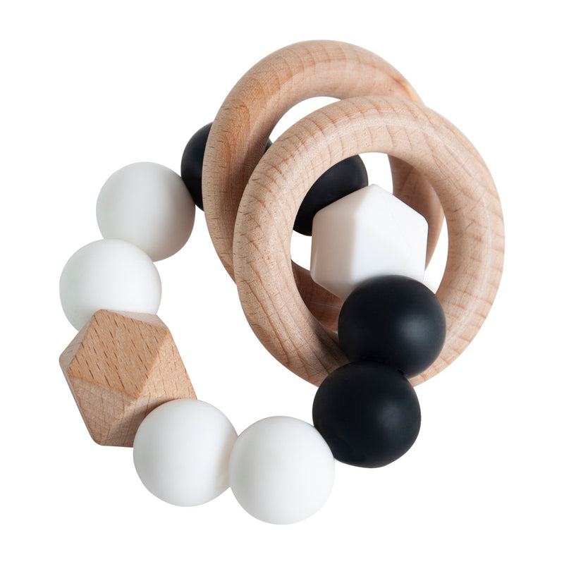 Rattle Ring Teether - Black Contrast