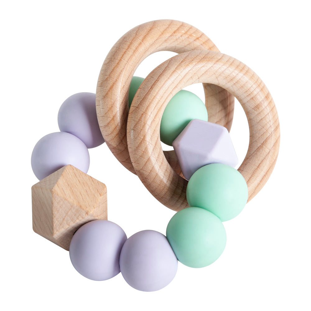 Rattle Ring Teether - Lavender & Mint