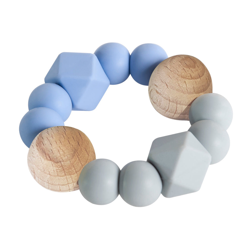Textured Teether - Blue & Grey