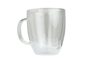 Double-wall 16 oz Borosilicate Glass Coffee Mug