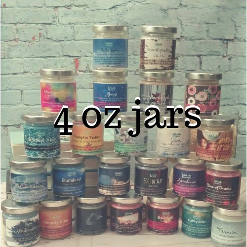 Minis | 4 oz Soy Candles | Glass Jar