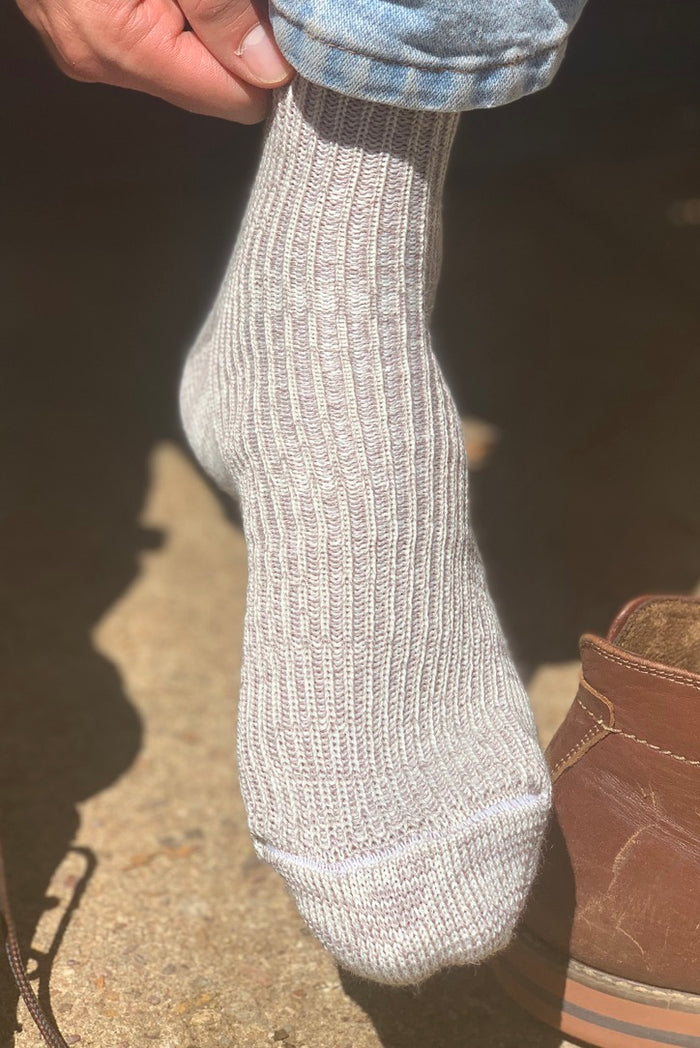 local merino, Yass alpaca & silk ribbed Taralga socks
