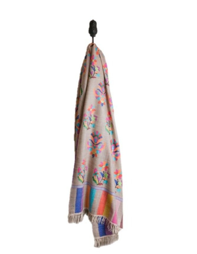 heirloom kaani cashmere shawl