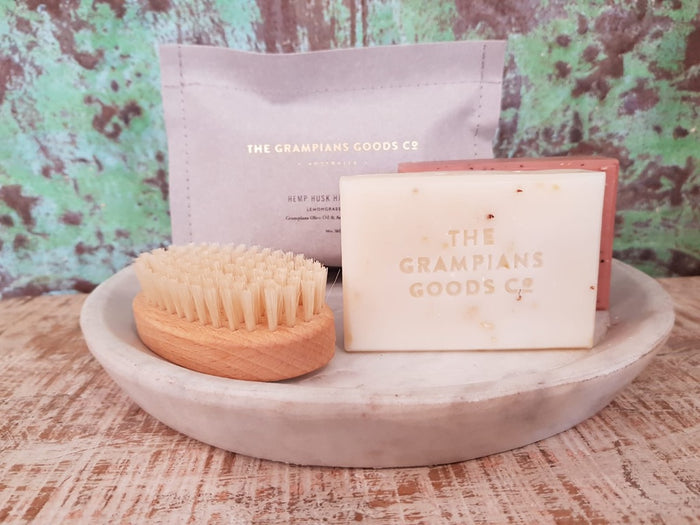 grampians grown hemp husk body bar