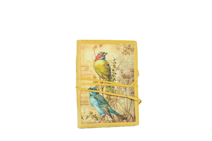 bird notebook with tie