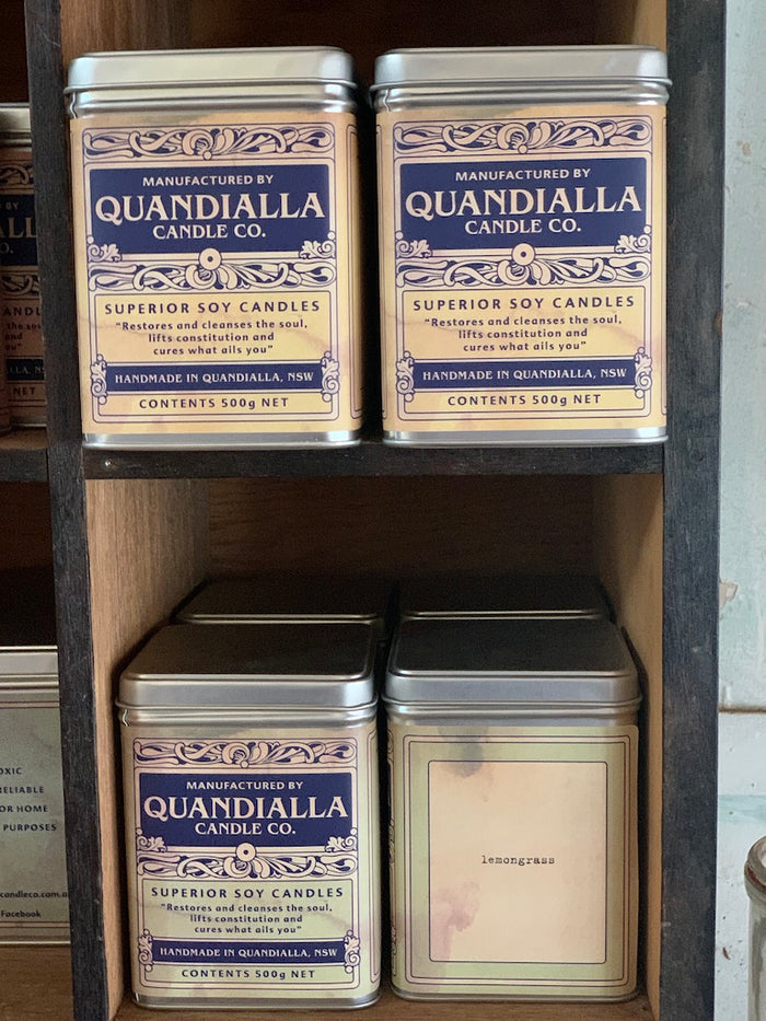 quandialla candle tins - large