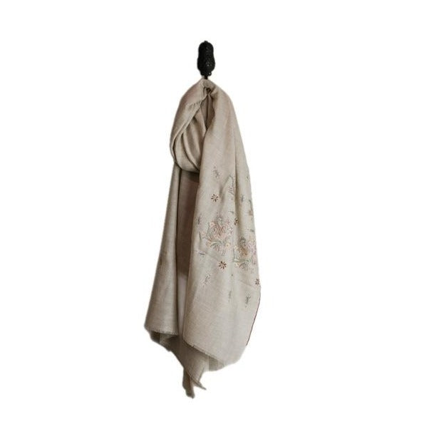 heirloom exquisite hand-embroidered cashmere wrap