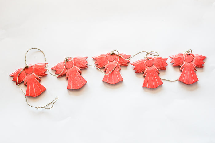 hanging angels on jute string