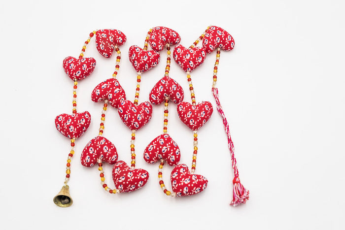pretty hanging hearts on string