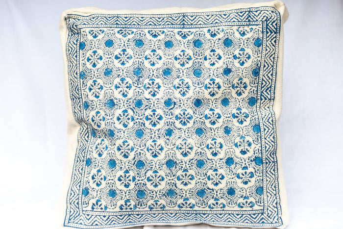 block printed cushion covers