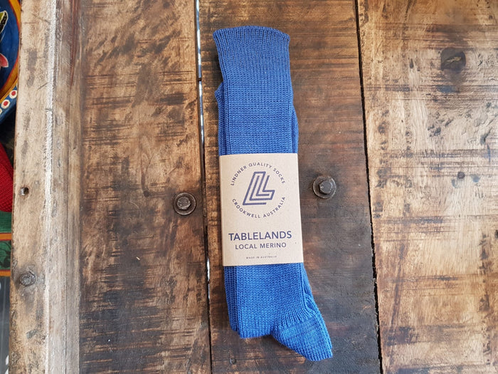 local merino Narrawa ribbed socks