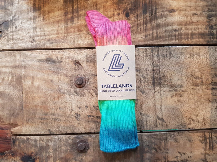 local merino wool hand-dyed Kiamma socks