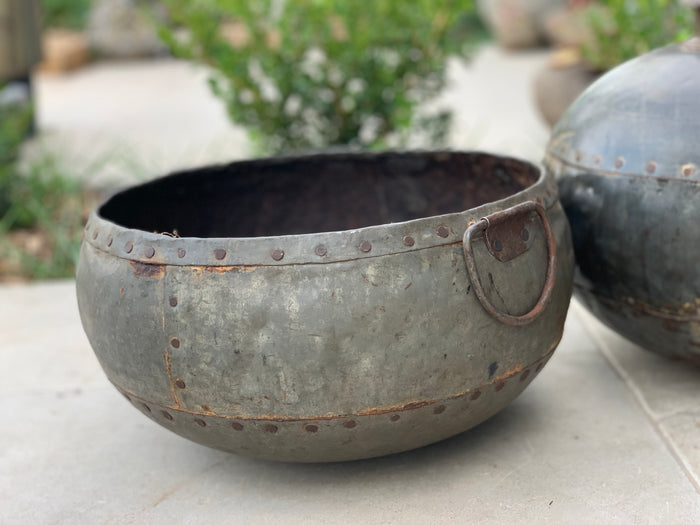 vintage iron water pot