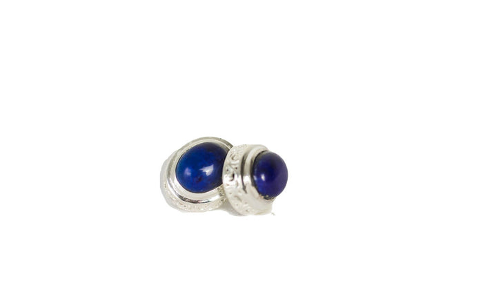 gemstone cabochon earring in pretty bezel setting