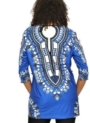 Dashiki Print Short Dress