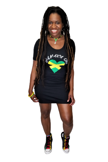 Jamaica One Heart T-Shirt Dress