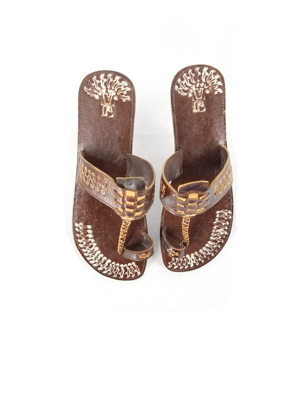 Leather Three Plat Sandal
