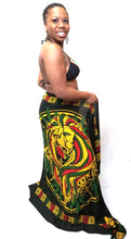 Load image into Gallery viewer, Aztec Rasta Reggae Lion Sarong