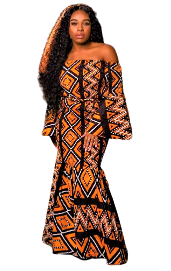 African Print Flair Dress