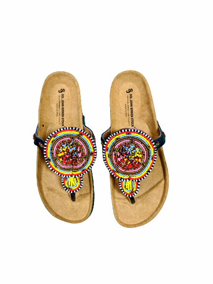Leather Nilotic slippers