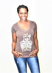 ReggaenThings Logo V-Neck Tee