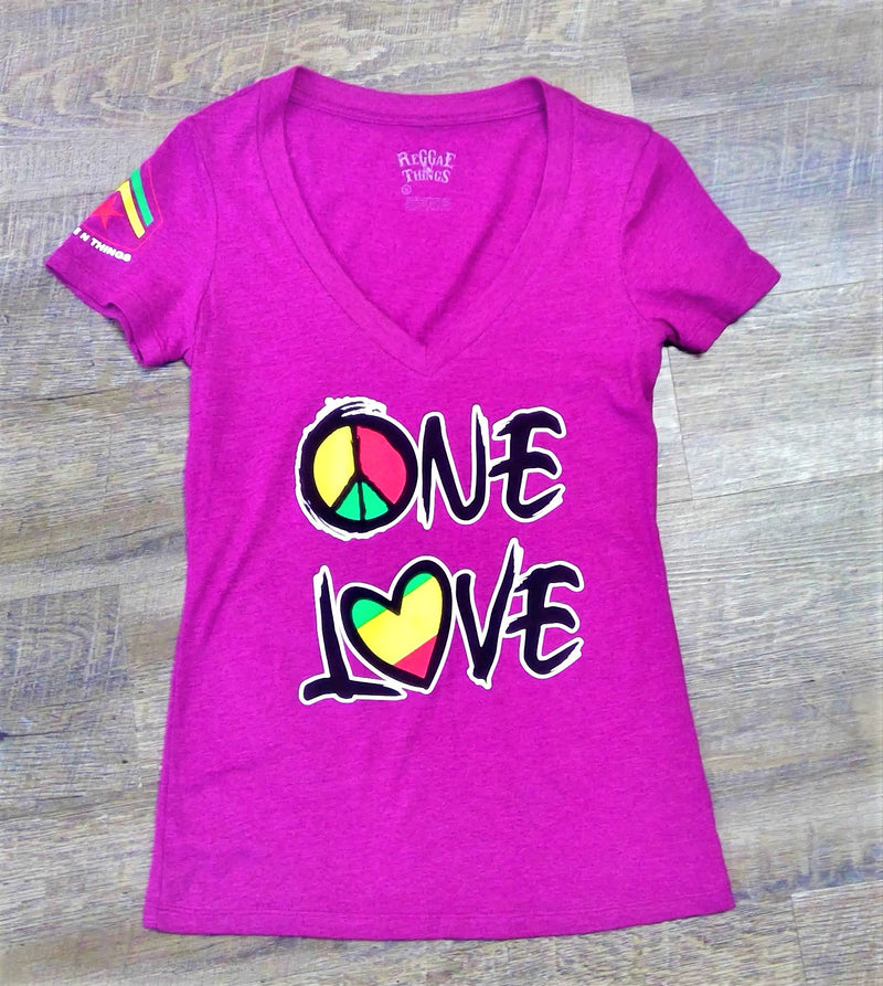 One Love V- Neck Tees