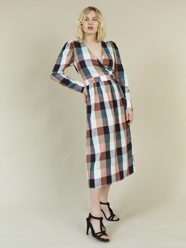 STORM & MARIE Donna Puff Dress Dress 901 Check