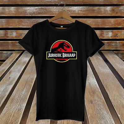 Jurassic Braaaap - Funny Jurassic Park Style Fathers Day Gift Inspired T-Shirt