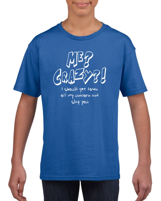 """Me? Crazy?"", Funny, Cool, Classic, Retro,Vintage, Hipster T-Shirt S-2XL"