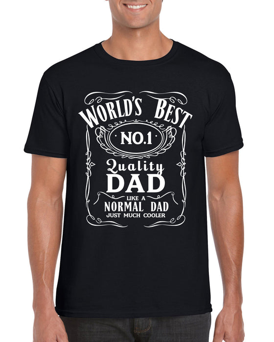 b1b8ed4e World's Best Number 1 Cool Dad T-Shirt Jack Daniels Inspired Fathers Day  Present