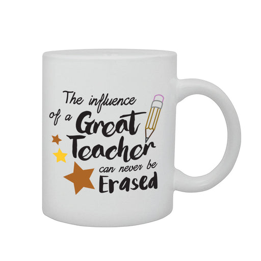 Great Teacher Can't Be Erased Leavers School Present End Year Gift Printed Mug