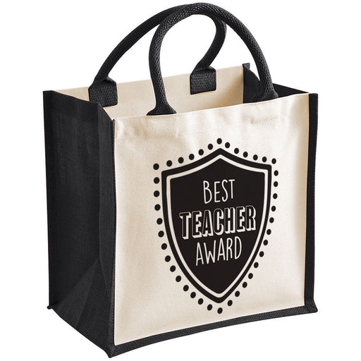 """Best Teacher Award"" Teacher Gift Premium Jute Bag"
