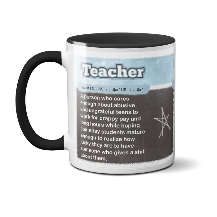 Definition of A Teacher - Funny Novelty Mug - Leavers School Gift - Coffee Tea
