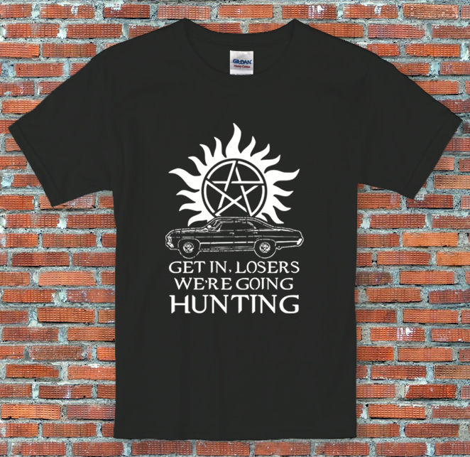 Lets Go Hunting Supernatural Inspired T Shirt S M L XL 2XL