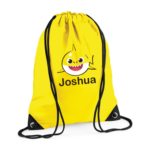 Personalised Custom Name Cute Babyshark Doo Doo Drawstring Bag Backpack