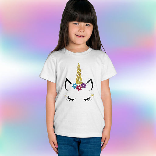Glitter Unicorn Face T-Shirt