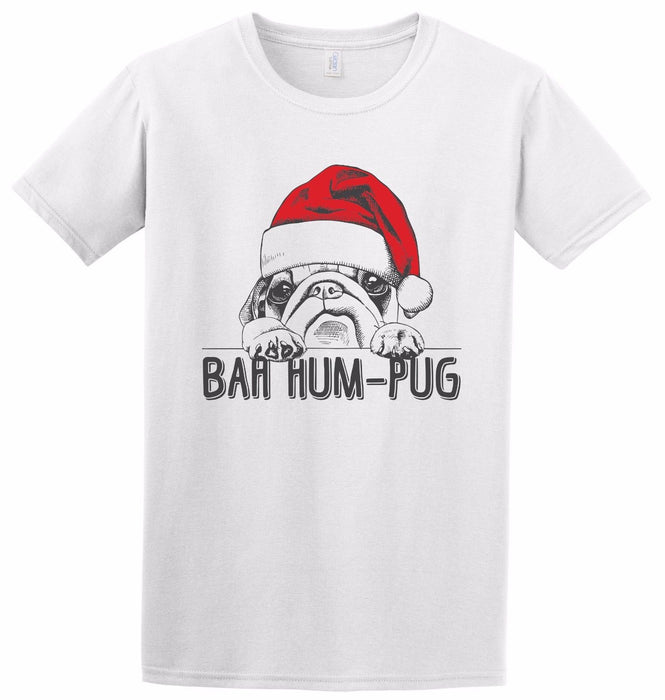 Bah Hum Pug - Cute Santa Christmas Xmas Pug Dog Bug Grinch Gift Inspired T-Shirt