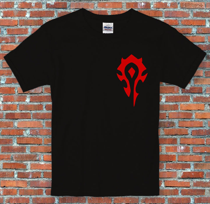 Warcraft Factions Alliance Horde Insignia Video Game Inspired T Shirt S-2XL