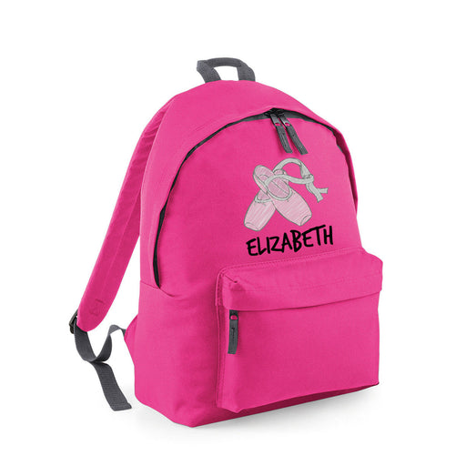 Personalised Custom Customised Kids Name Ballet Dancing Shoes Backpack Rucksack