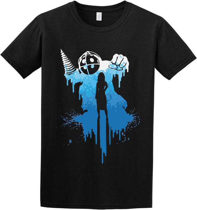Big Daddy Bioshock Rapture Elizabeth Video Game Inspired T-shirt S-2XL