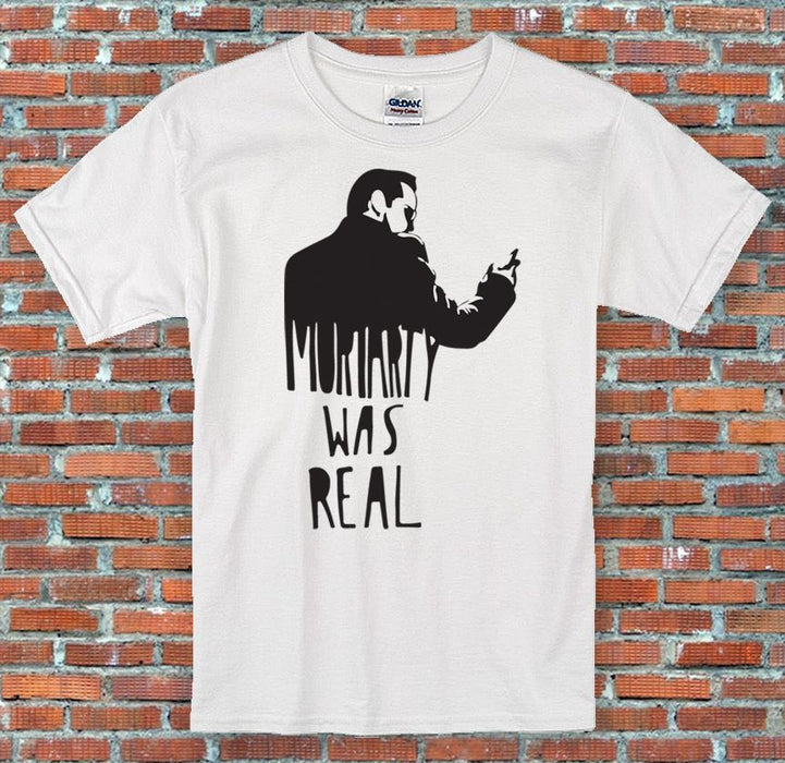 """Moriarty Was Real"", Funny, Cool, Classic, Retro,Sherlock T-Shirt S-2XL"