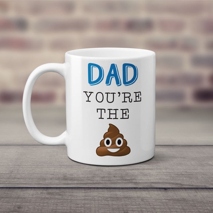 Novelty Funny Emoji Themed Mug / Coffee Cup For Dad, Perfect Father's Day Gift